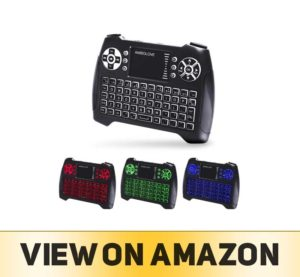 Backlit Wireless Mini Keyboard with Touchpad Mouse and Multimedia