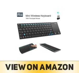 Rii K12+ Mini Wireless Keyboard with Large Touchpad