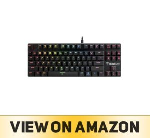 GAMDIAS Hermes M3 RGB Gaming Keyboard Low Profile Mechanical Switch with blue switch, N-key rollover