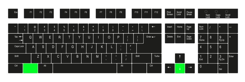 Windows key + down arrow - Keyboard shortcut keys