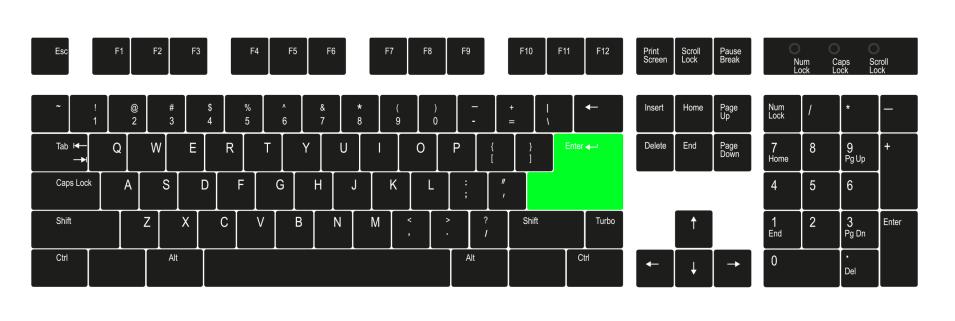 "Enter"" key - Keyboard shortcut keys"